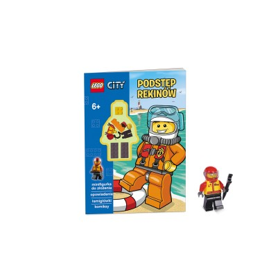 Książeczka Lego City z mini figurką Podstęp Rekinów LMJ-5 Ameet