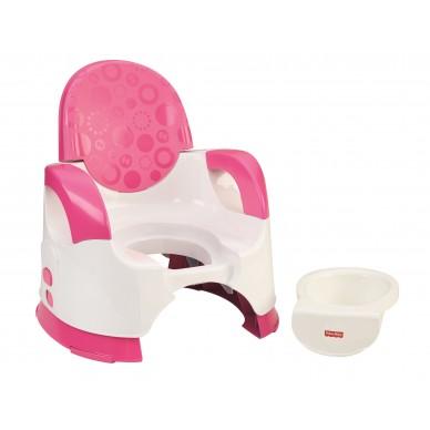 Komfortowy nocniczek Fisher Price CGY50 różowy