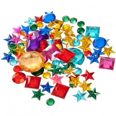 Ozdoba dekoracyjna metaliczne kryształki Craft with Fun