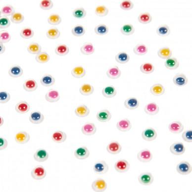 Ozdoba dekoracyjna oczy kolorowe 5 mm Craft with Fun