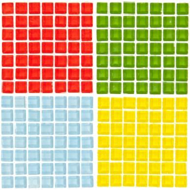Ozdoba dekoracyjna mozaika mix kolorów Craft with Fun